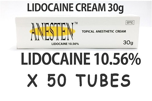 ANESTEN-50 tubes! 10.56% Lidocaine Cream(1,500g)