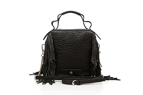 W1 Mayfair Fringe Bag Black