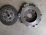 Before: Old clutch and flywheel