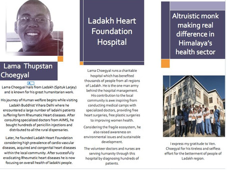 The Altruistic Lama making a real difference in Himalaya's health sector.