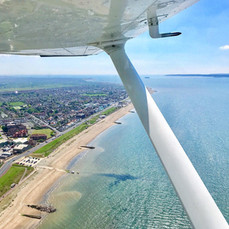 Climbing out over Lee-On-Solent