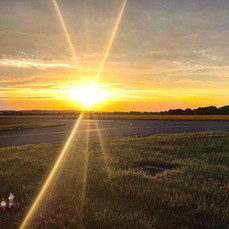 Sunrise Over the Airport
