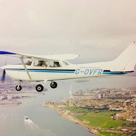 G-OVFR over Portsmouth