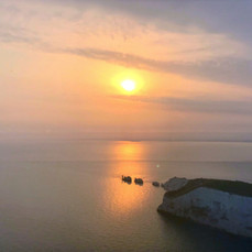 Sunset over the Needles