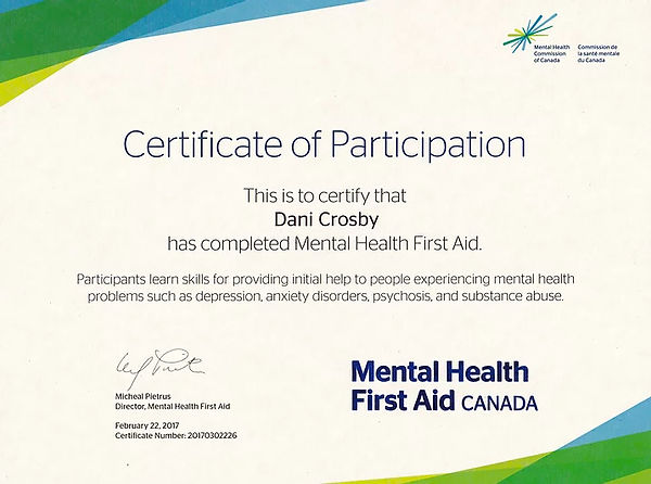 mental health first aid Dani Crosby copy