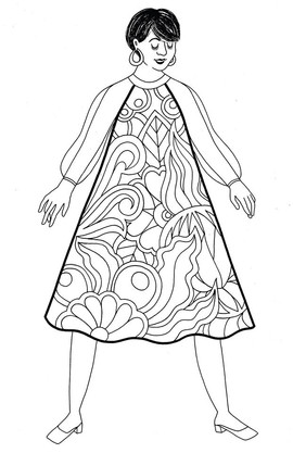 This illustration is part of a series of colouring pages created for Carriage House.
