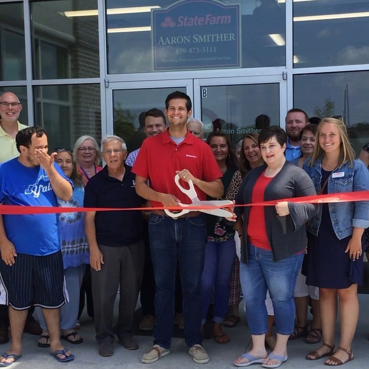 Thank you to everyone that helped us welcome Aaron Smither's new State Farm Insurance location to the Chamber! #woodfordchamber #versailles #welcome