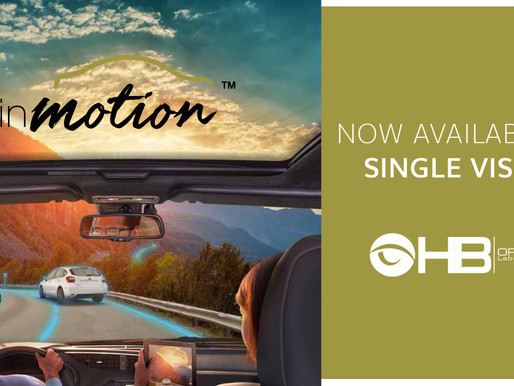 inMotion NOW AVAILABLE IN SINGLE VISION
