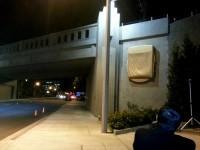 Train bridge lights up Santa Anita
