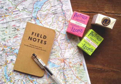 map and notes