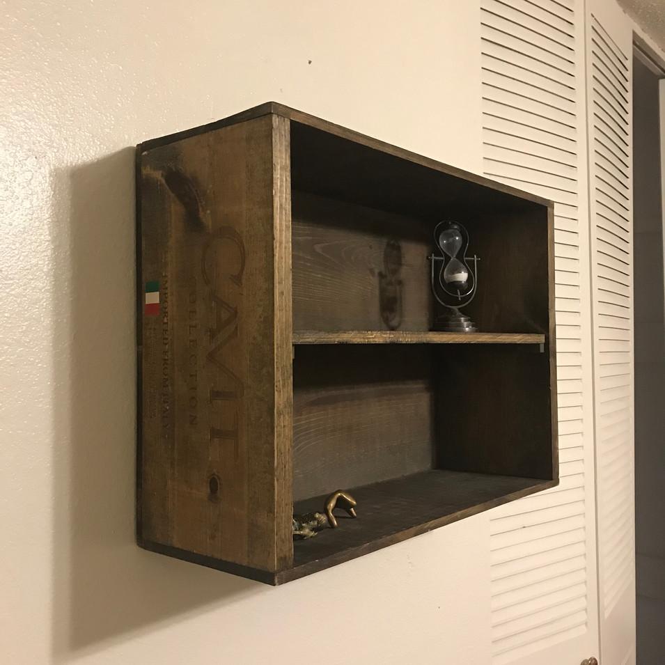 Wine Crate Wall Shelf