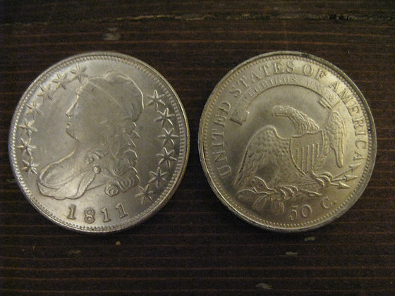 1811 American Liberty Bust Half-Dollar (Plated)