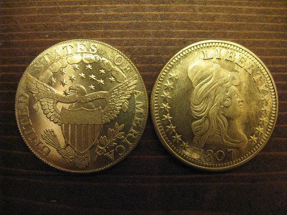 1807 Liberty Bust $10 Gold Piece Replica