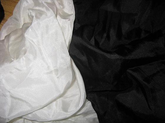 Large Black Silk Neck Cravats