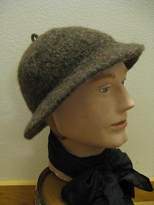 Hand-Knit Felted Wool Monmouth Cap