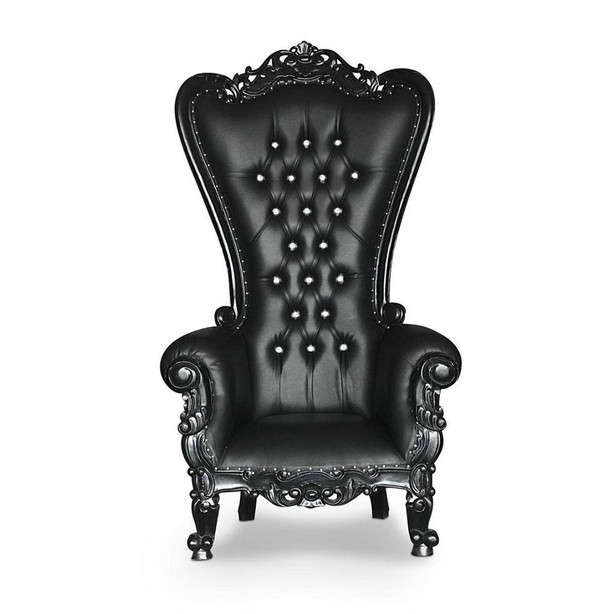 Black High Back Throne