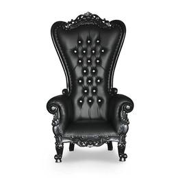 Black High Back Throne
