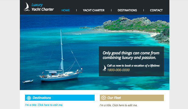 Business website templates – Yacht Charters
