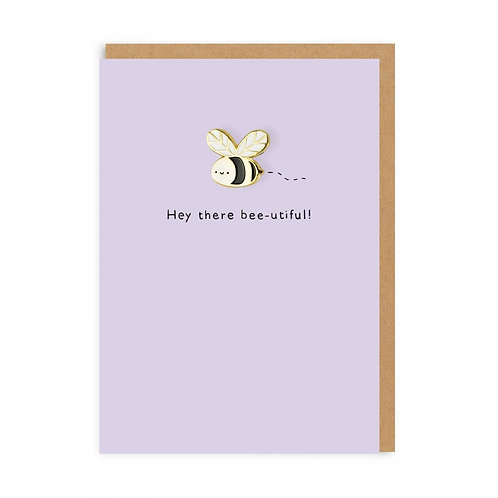 Bumblebee Enamel Pin Greeting Card