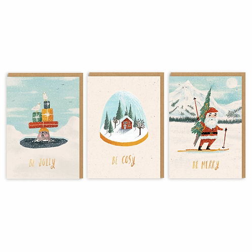 Be Cosy Christmas Card Set