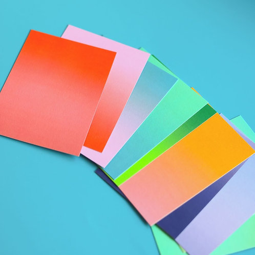 Gradient Postcard Set