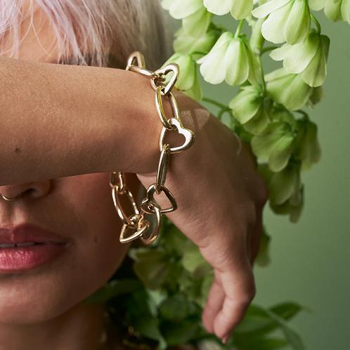 Upendo Heart Link Chain Bracelet