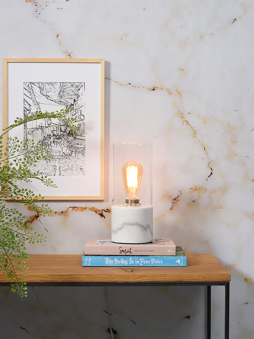 Athens Table Lamp, White