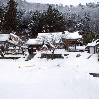 法泉寺の雪景色