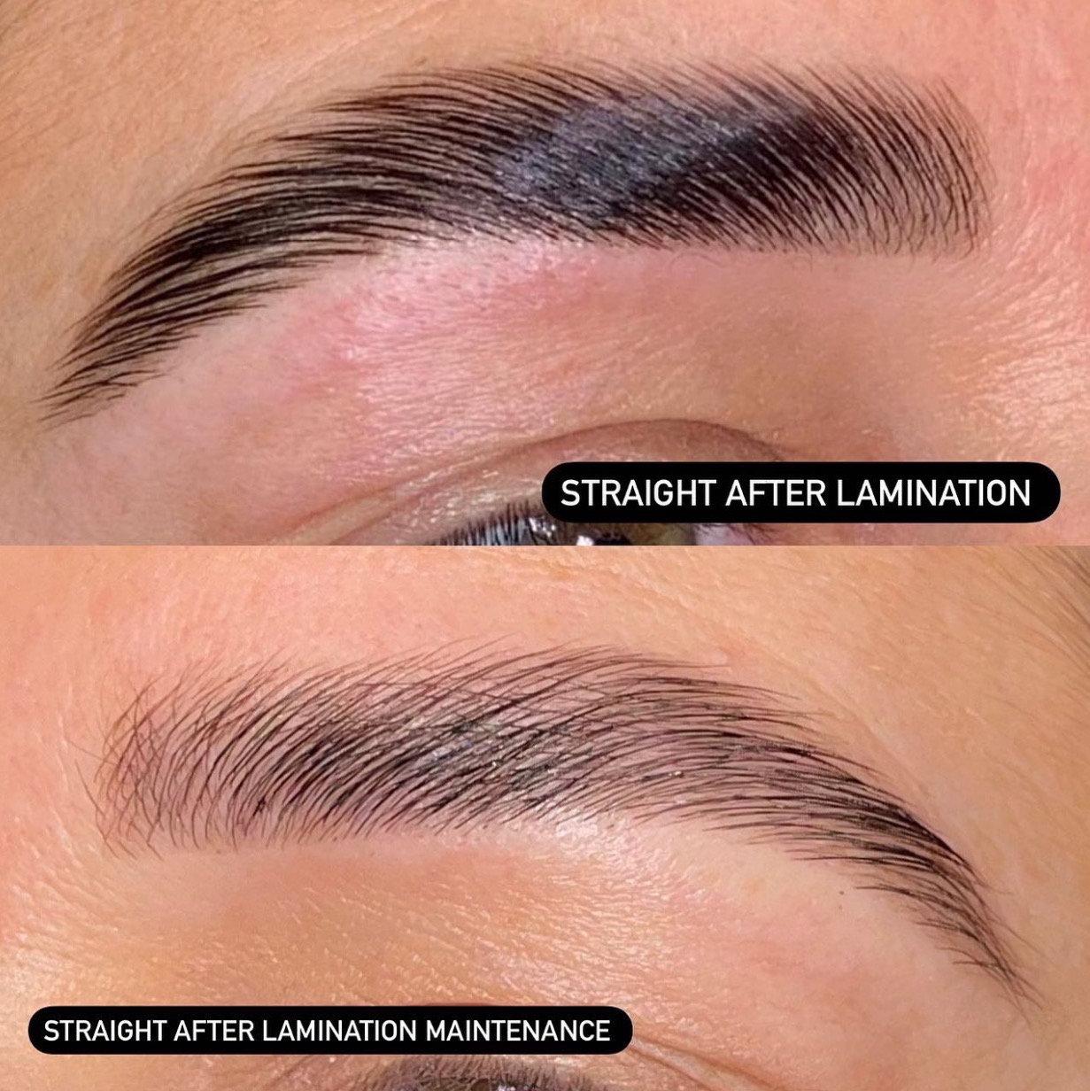 Brow Lamination maintenance