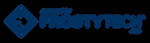 Frosty Tech Logo Word Mark Pwd By (Blue)