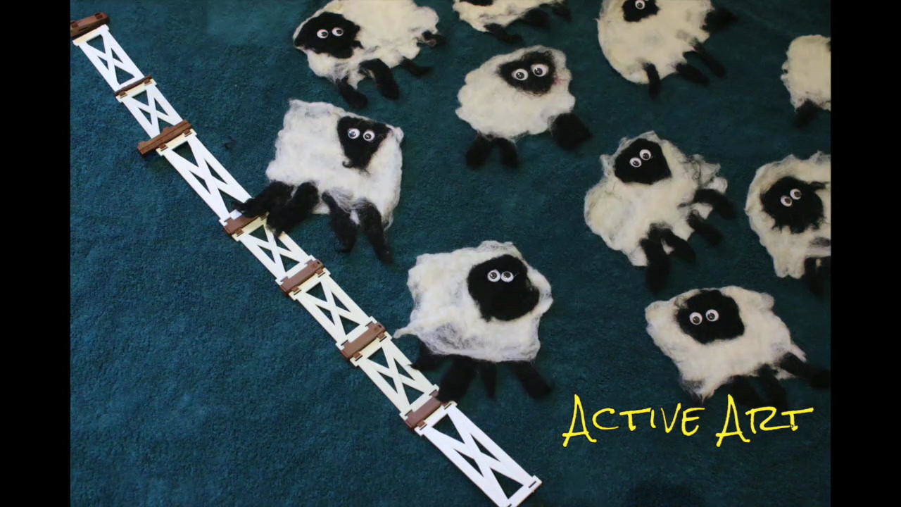 Active Art Sheep Stop Motion - HD 720p.m
