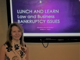 Met up with Deanna Waller-Bundy to Discuss Bankruptcy Issues
