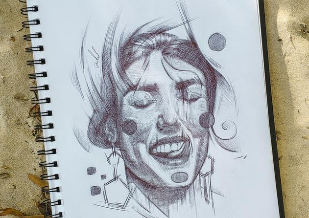 Sketch Con Bolígrafo
