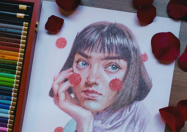 Sketch con Lápices de Colores