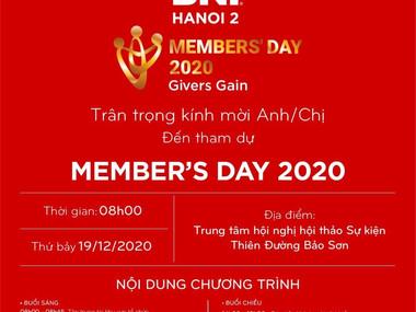Chương trình Member's Day - BNI Hà Nôi 2