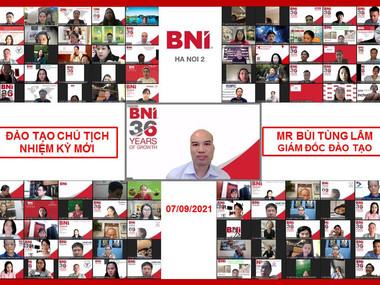 Chương trình đào tạo Chủ tịch nhiệm kỳ mới - BNI Hà Nội 2.