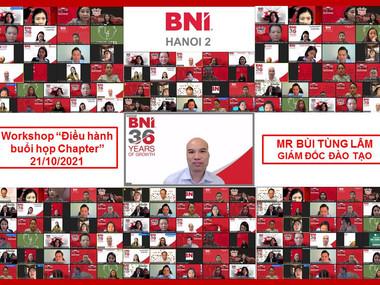 Chương trình Workshop Điều hành buổi họp Chapter - BNI Hà Nội 2.