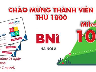 Chào đón thành viên thứ 1.000 của BNI Hà Nội 2