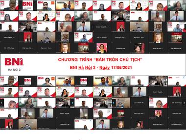 Chương trình Bàn tròn Chủ tịch BNI Hanoi 2 - 17/06/2021