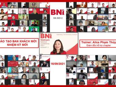 Chương trình đào tạo Ban Khách mời nhiệm kỳ mới ngày 16/9/2021.