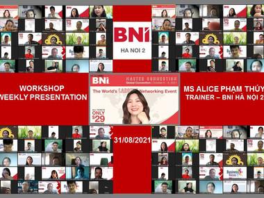 Chương trình Workshop Weekly Presentation - BNI Hà Nội 2.