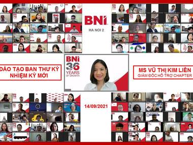 Chương trình Đào tạo Ban Thư ký nhiệm kỳ mới ngày 14.9.2021 - BNI Hà Nội 2.
