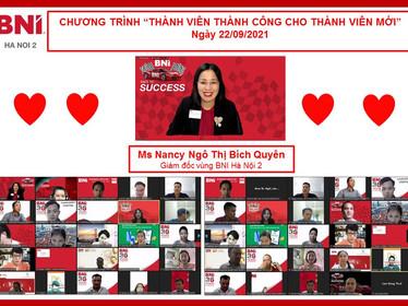 Chương trình Thành viên thành công (MSP – Member Success Program) cho thành viên mới – BNI Hanoi 2.