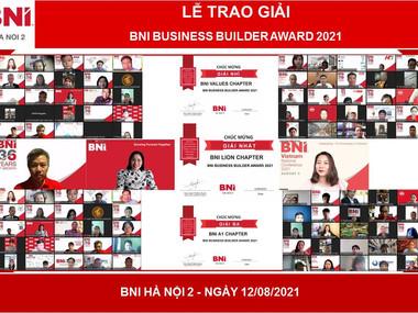 """BNI BUSINESS BUILDER AWARD 2021 – HÀ NỘI 2: SỐNG MÃI VỚI TRIẾT LÝ """"HỌC TẬP SUỐT ĐỜI"""""""