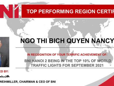 Top 10 Vùng hoạt động hiệu quả trên toàn thế giới tháng 9/2021
