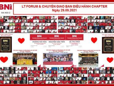 Chương trình LT Forum & Chuyển giao Ban Điều hành chapter – BNI Hanoi 2