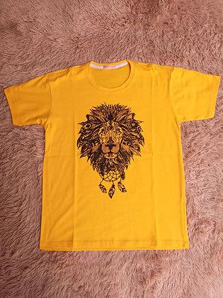Camiseta Amarela Leão - Linha Premium