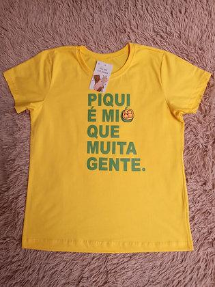 Camiseta Amarela Piqui - Linha Like