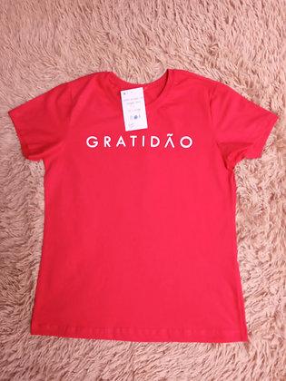 Camiseta Vermelha Gratidão - Linha Like
