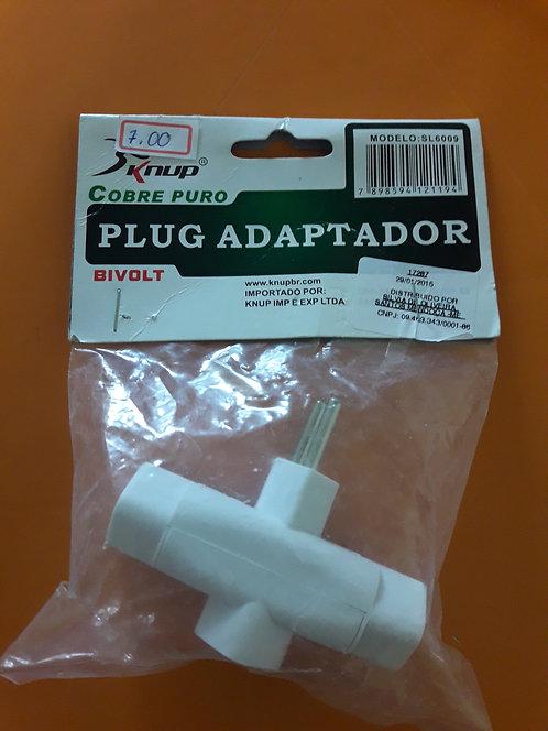 Adaptador para Tomada Elétrica 3 pinos